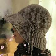 """""""帽""""美如花之二 亚麻编织女士钩针大檐帽"""