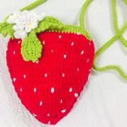 萌趣毛线钩编草莓包包编织图解