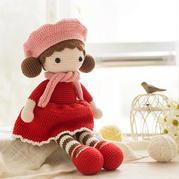 戴贝雷帽的小姑娘(2-2)钩针毛线玩偶编织视频