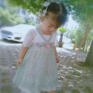 青荷 原創女童鉤針漢服連衣裙