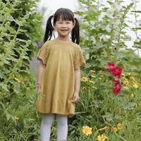 儿童棒针蕾丝插肩短袖连衣裙编织视频教程(2-1)