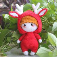 娃娃家编织萌可爱钩针麋鹿娃娃