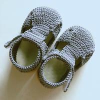 手工编织钩针宝宝学步鞋 比买的更合适