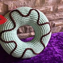 趣味钩针甜甜圈抱枕与小物编织图解