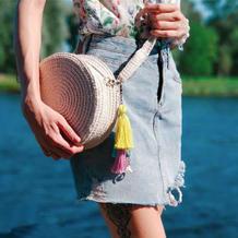 布条线新用途  度假风流苏圆形包包简单几步轻松做