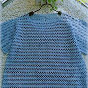 藍莓 簡約夏季女士鉤針短袖衫
