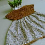從領口往下鉤兒童鉤布結合小裙子