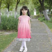 魔法公主裙(3-1)从领口往下钩儿童钩针育克圆肩公主裙编织视频