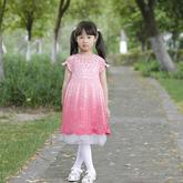 魔法公主裙(3-3)從領口往下鉤兒童鉤針育克圓肩公主裙編織視頻