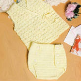 萌可爱婴幼儿钩针和尚服尿布兜编织图解