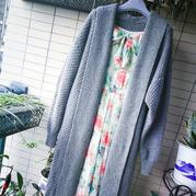 長裙伴侶 經典拉風女士棒針開衫大衣