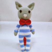 5股棉编织钩针詹姆斯猫编织图解