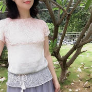 粉墨人生 改版志田从上往下织女士棒针短袖