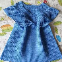 蓝翅 原创儿童钩针飞袖小背心