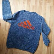 雪尼尔编织男孩棒针阿迪图案套头毛衣