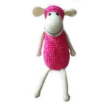 蚕丝蛋白绒和雪尼尔毛线编织钩针萌小羊