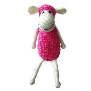 蠶絲蛋白絨和雪尼爾毛線編織鉤針萌小羊