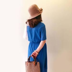 芒种 女士钩针棉草包包帽子套装