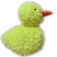 小黄鸭  绒绒线棒针编织鸭子图解