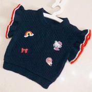 仿淘宝hello Kitty款简单好织1-2岁女宝宝棒针背心