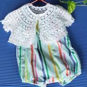 嬰兒吊帶外搭鉤針圓擺小開衫