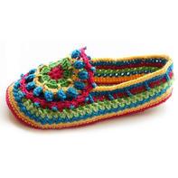 彩色毛线编织民族风居家室内鞋
