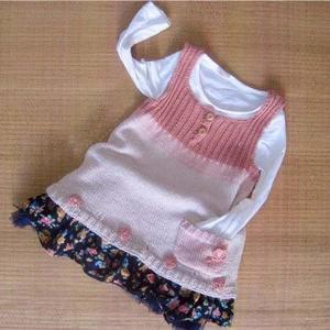 新手编织也无压力的甜美女童棒针小背心