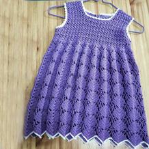 小贝壳童裙 适合新手编织的儿童钩针背心裙