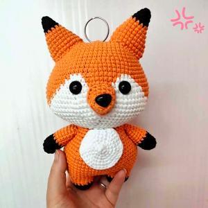 钩针狐狸玩偶编织图解