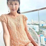 人鱼传说 仿小熊翻译女士棒针镂空花连衣裙