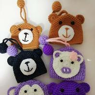 简单有趣毛线编织钩针钥匙包