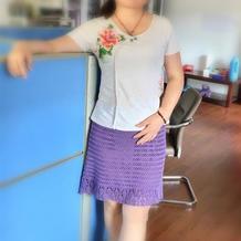 紫萝 夏至女士钩针半裙