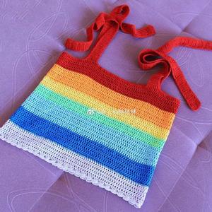 彩虹的夏天 1天就可完成的清凉钩针小背心