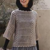 编织过程不会太枯燥的横织2019秋冬女士直编袖套衫