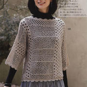 編織過程不會太枯燥的橫織2019秋冬女士直編袖套衫