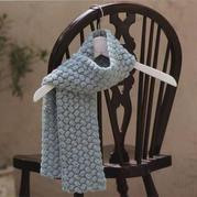 鉤針棗形針圍巾編織圖解 泫雅風鉤包同款花型
