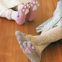 萌可爱钩针猫爪居家室内鞋编织图解