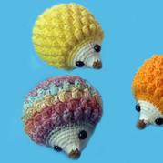 创意毛线编织刺猬玩偶钩针视频教程