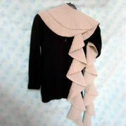 織法非常簡單的時尚棒針圍巾