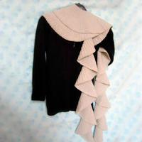 织法非常简单的时尚棒针围巾