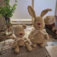 玉兔共婵娟  钩针兔子玩偶作品秀与图解
