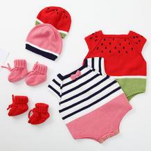 跳跳糖婴儿鞋(3-3)婴幼儿棒针爬服套装编织视频