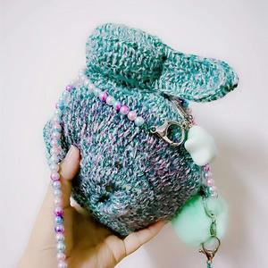 仿奢侈品钩针兔子包编织教程