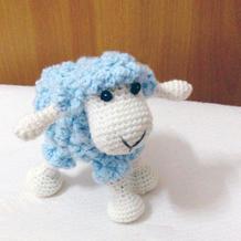 零线的好去处 毛线编织俏皮可爱钩针小绵羊