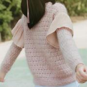 棒針荷葉袖套頭毛衣(附翻譯圖解)