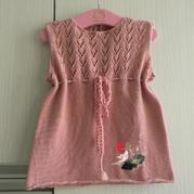 简单好织婴儿棒针背心裙