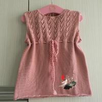 簡單好織嬰兒棒針背心裙