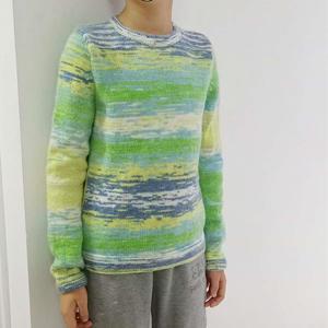 喵夫人小雪段染線棒針編織男童長袖毛衣