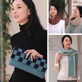 好织好玩不单调手编女士秋冬围巾包包编织图解