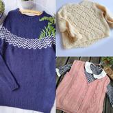 201942期周熱門編織作品:手工編織秋冬兒童女士編織服飾12款